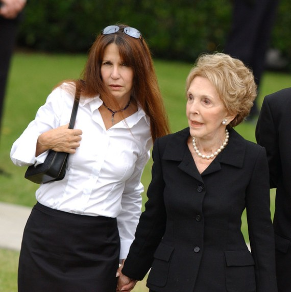 Nancy Reagan + + + Patti Davis