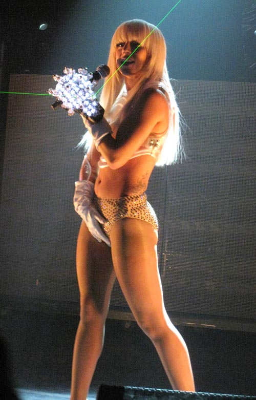 Lady GaGa on stage at the KOKO club in London