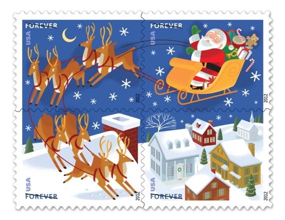 Santa Stamps