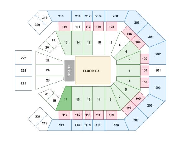 Gaga Vegas Seating Chart