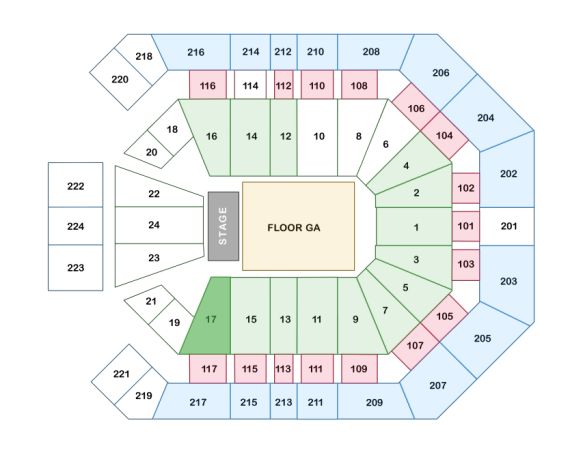 Gaga Vegas Seating Chart