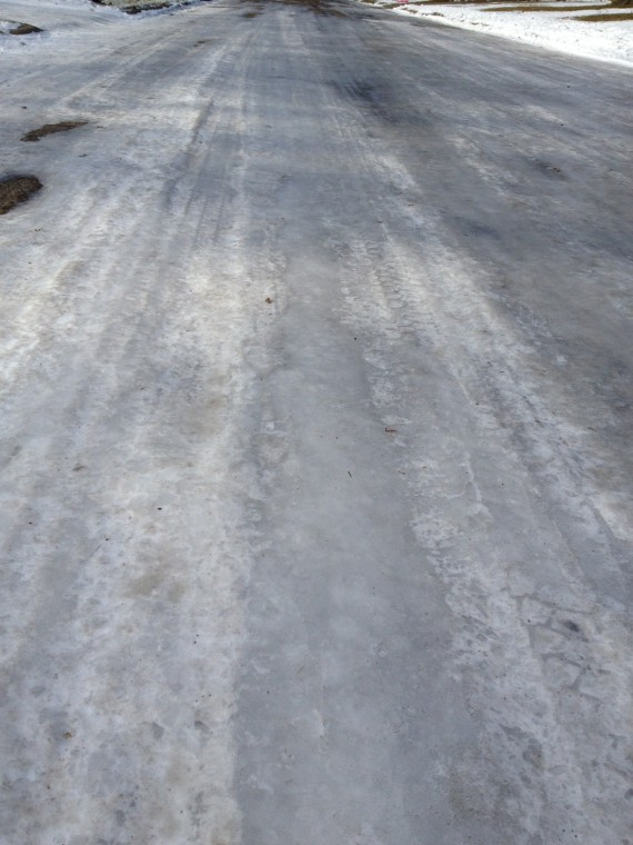 Icy Streets From 122012 Storm