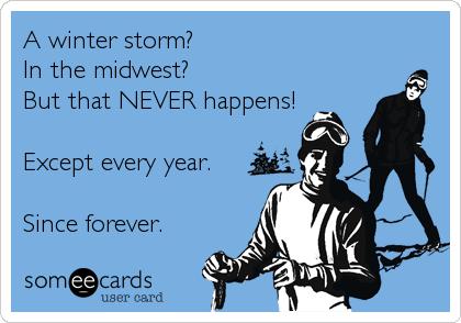 Winter Storm Humor