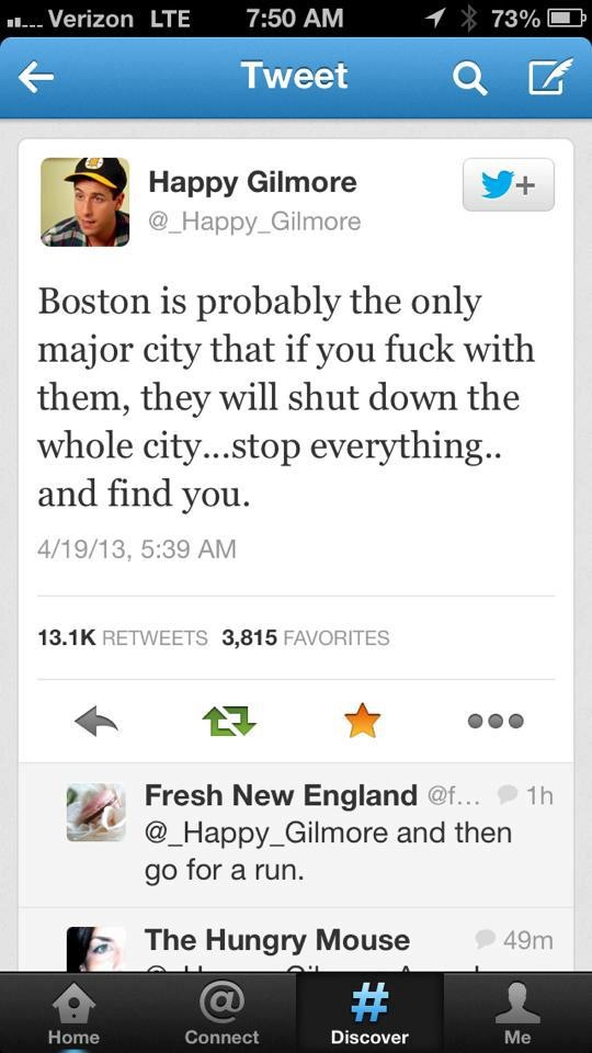 Boston Adam Sandler Tweet
