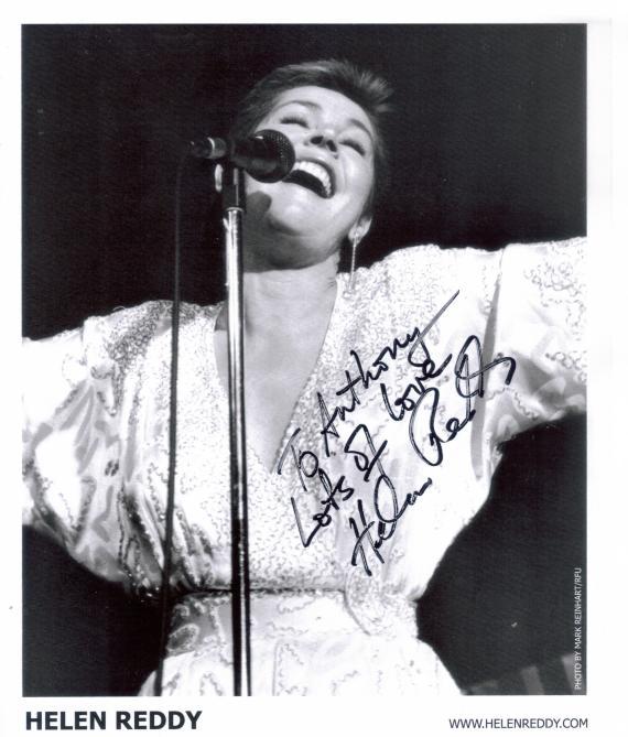 Helen Reddy Autograph