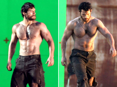 Henry-Cavill-Shirtless-On-Superman-Set