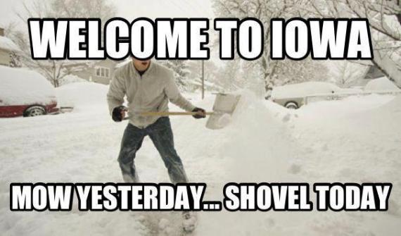 Iowa Mow Snow