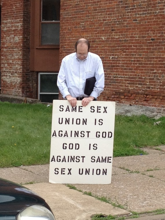 Pride Protestor