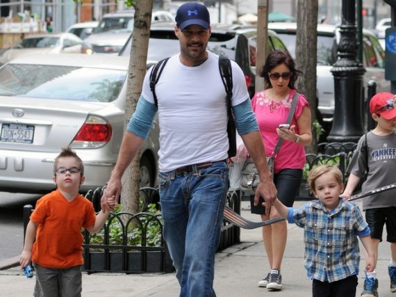 Exclusive - Ricky Martin Spends Time With His Partner And Children