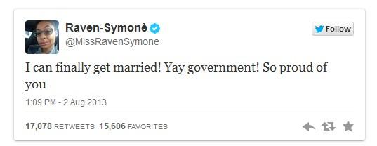 Raven-Symone Tweet