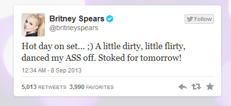 Britney Tweet 1