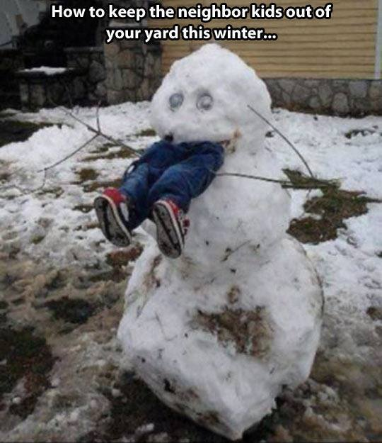 Snowman Eats Kid