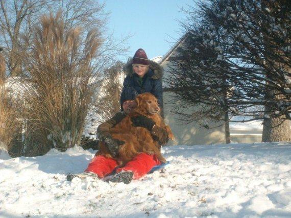 Sledding December 2010