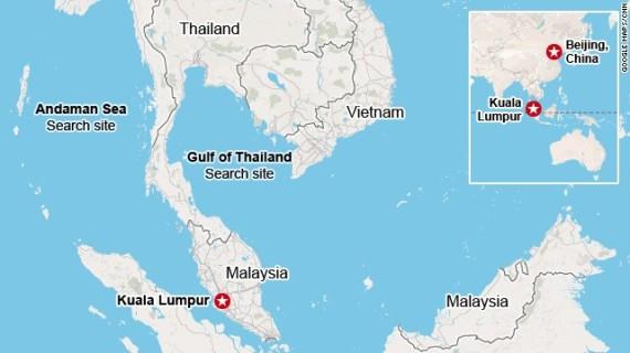Malaysia-Bejing Flight Map
