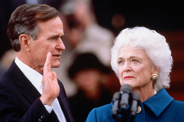 George-H-W-Bush-wife-Barbara-Bush