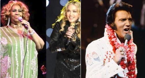 Elvis Aretha Madonna