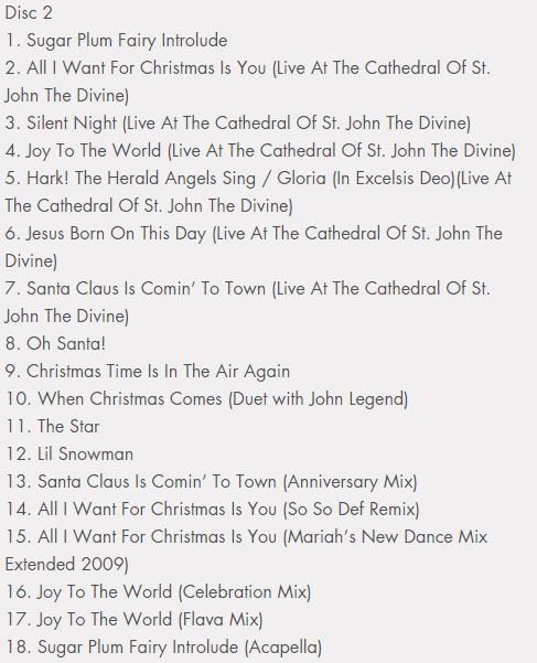 Track List CD2